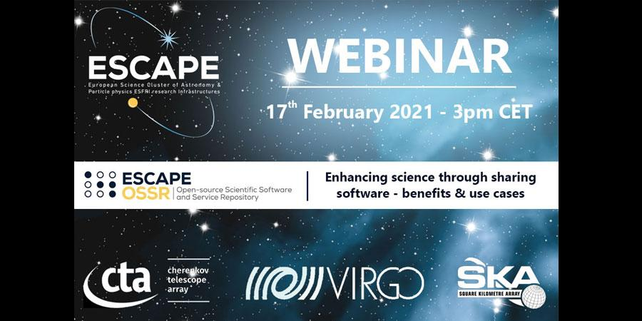 Webinar: ESCAPE OSSR | Enhancing science through sharing software - benefits & use cases