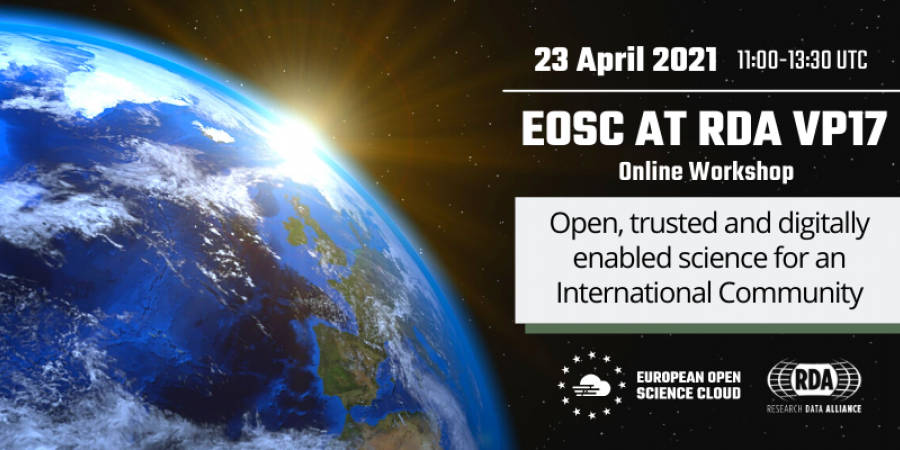 EOSC at RDA VP17 - Open, trusted and digitally enabled science for an International Community